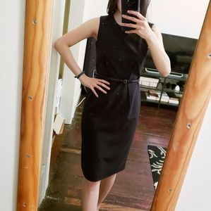 Calvin Klein   Slick Black cocktail/office dress